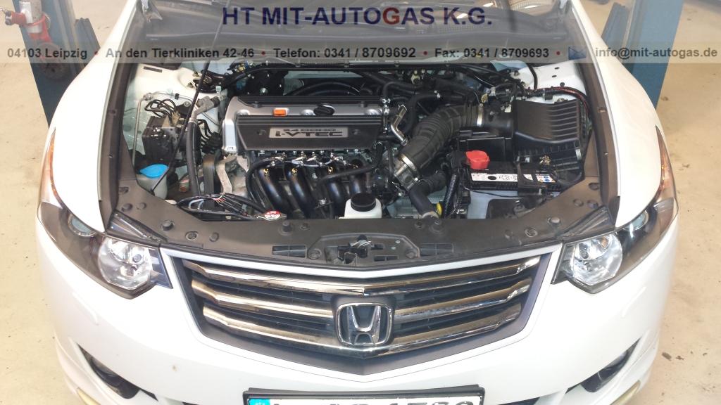 Honda Accord 2,4 l, mit einer VSI Prins 2 Gasanlage